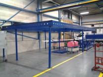 Voorzetwanden tussen staalconstructies bedrijfshal Veros metalen te Veenendaal